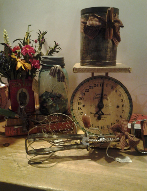 The Corner Shoppe  loves repurposing and recycling vintage everyday items  into unique decorations for your home  as you can see in this photograph. Country Made Home Decor Gifts   Collectibles in Philadelphia PA